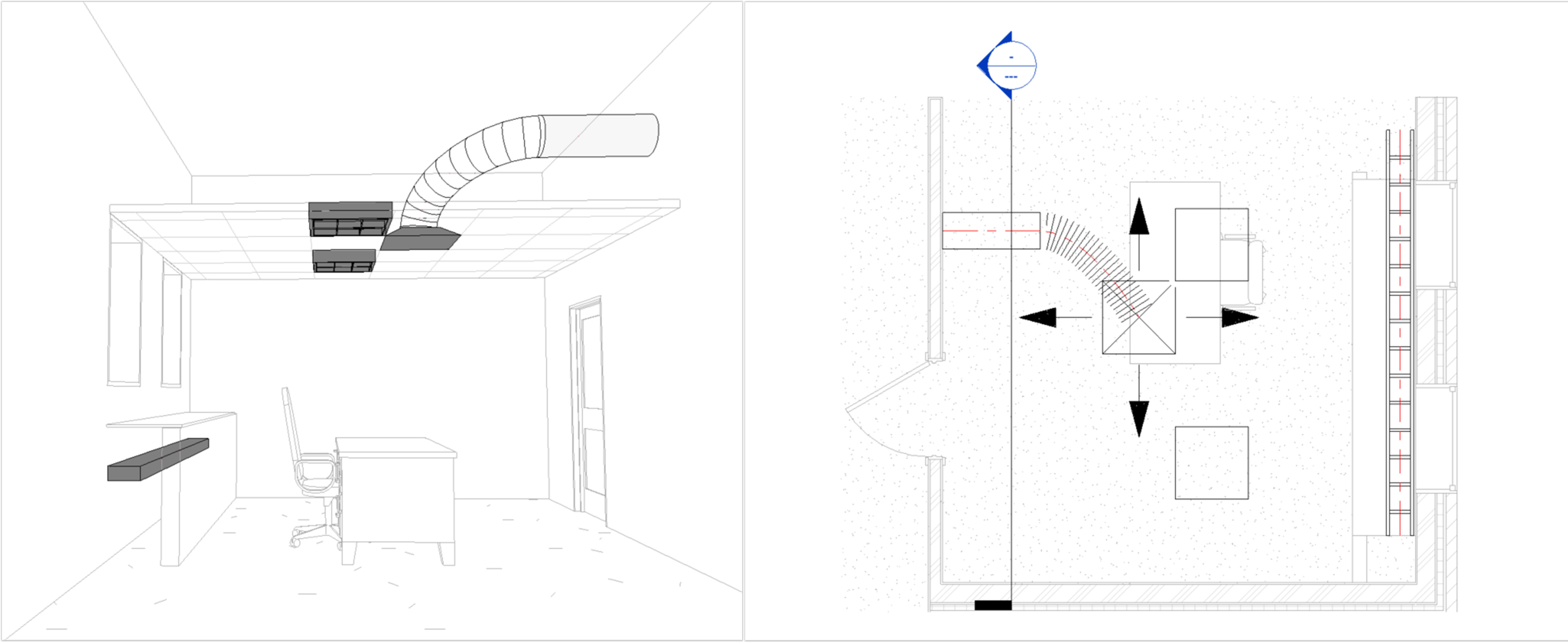 Dziedzina widoku Mechanika_Elektryka_Hydraulika 3D i rzut