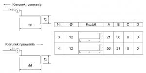 Numeracja prętów. Identyczna geometria - różne kierunki rysowania szkicu, różne numery pozycji.