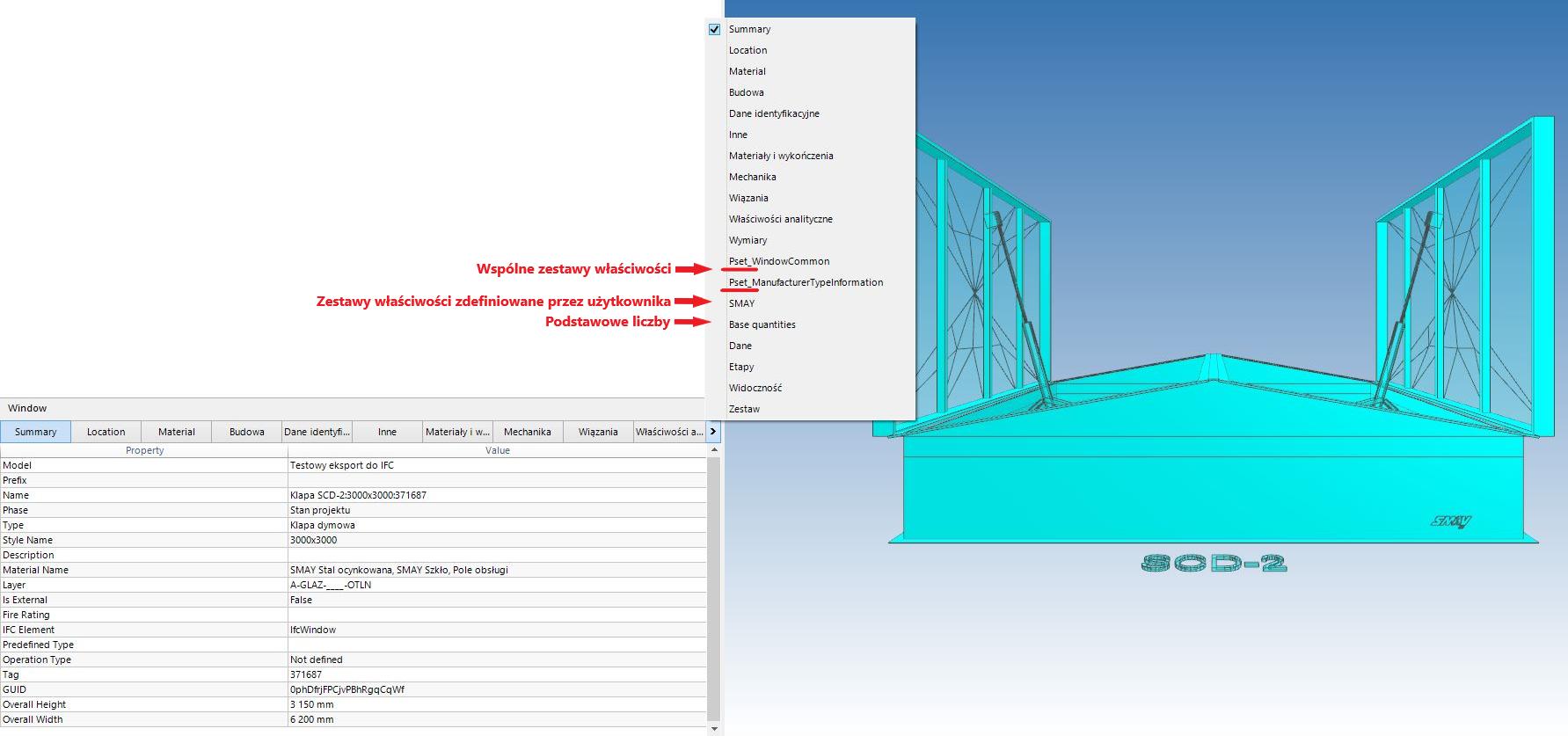 Property Sets wprzeglądarce BIMCollab